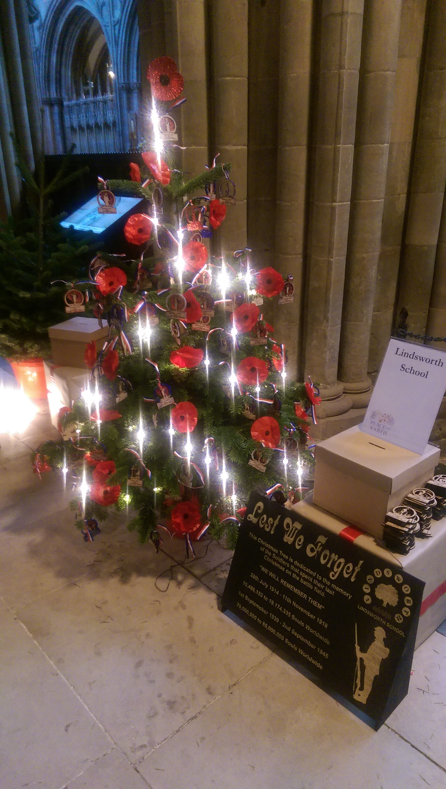 Lichfield Cathedral Memorial Christmas tree