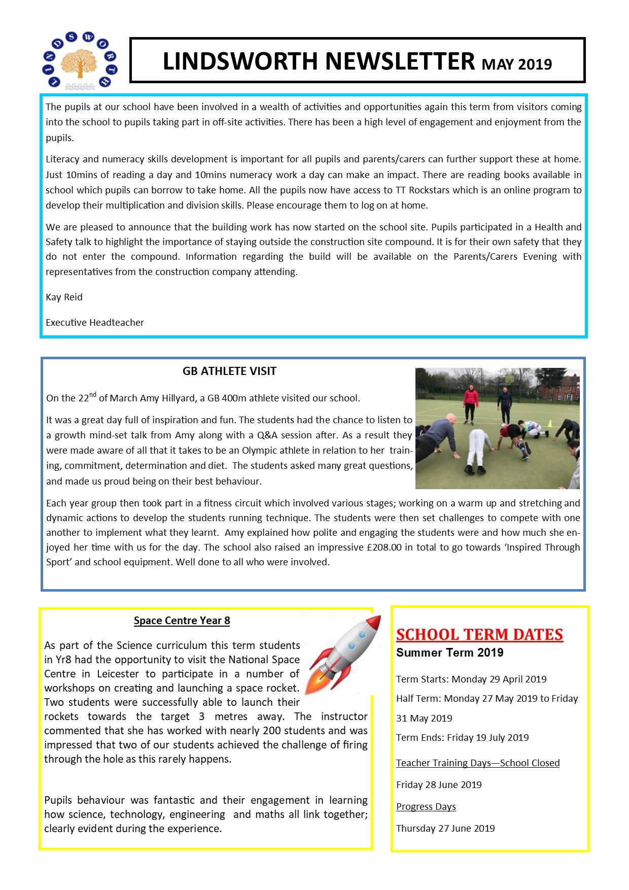 May Newsletter 2019
